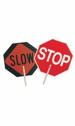 "C.H. Hanson 55450  'STOP' - 'SLOW' Traffic Safety Sign with 10"" Wood Handle"