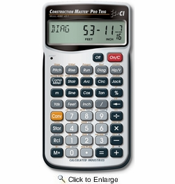 Calculated Industries 4080  Construction Master Pro Trig Advanced Feet-Inch-Fraction Construction Math Calculator with Full Trigonometric Functions