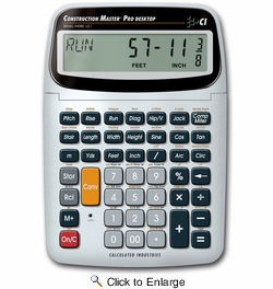 Calculated Industries 44080  Construction Master Pro Desktop Advanced Feet-Inch-Fraction Construction Math Calculator with Full Trigonometric Function