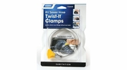"""Camco 39553  RV Sewer Hose 3"""" Twist-It Clamps - 2 Per Package"""