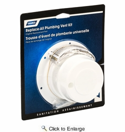 Camco 40033  Replace All Plumbing Vent Kit, Polar White