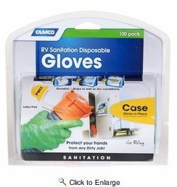 Camco 40285  Disposable Dump Gloves 100 Count Green