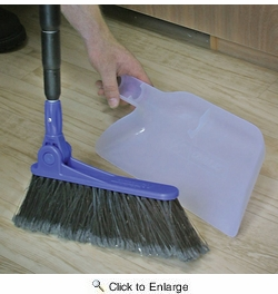 Camco 43623  RV Adjustable Broom And Dust Pan