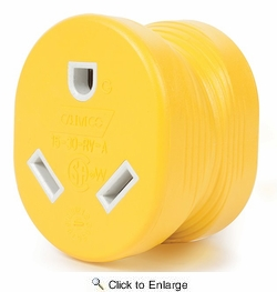 Camco 55223 Power Grip  15M/30F AMP  Adapter