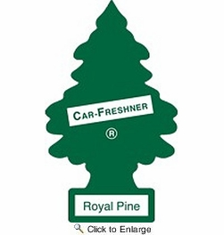 Car Freshner 10101  Little Trees Air Freshener Royal Pine Scent - Single Tree per Package