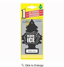 Car Freshner 10155  Little Trees Air Freshener Black Ice Scent - Single Tree per Package