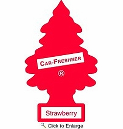 Car Freshner 10312  Little Trees Air Freshener Strawberry Scent - Single Tree per Package