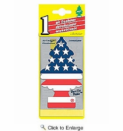 Car Freshner 10945  Little Trees Air Freshener Vanilla Pride Scent - Single Tree per Package