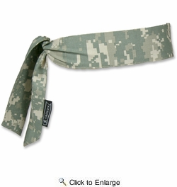 Chill-Its 6700  Evaporative Cooling Bandana - Tie Style - Camouflage Design (12304)