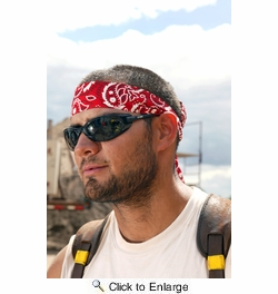 Chill-Its 6700  Evaporative Cooling Bandana - Tie Style - Navy Blue Western Design (12306)