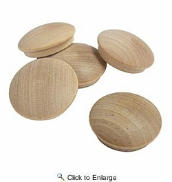 "Cindoco F10B  1"" Birch Screwhole Buttons 5 Per Bag"