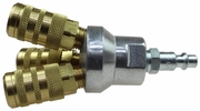 """Coilhose Pneumatics 3002-15X-DPB  1/4"""" Tri-Pod Manifold Assembly with Industrial Interchange Couplers"""