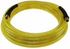 "Coilhose Pneumatics PFE40254TY  1/4"" x 25' Flexeel Polyurethane Reinforced Straight Air Hose with Strain Relief Fittings - Transparent Yellow"