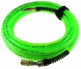"Coilhose Pneumatics PFX4050GS15XS  Air Hose 1/4"" X 50' Flexeel Max Industrial 1/4"" x 50' Flexeel Max Polyurethane Reinforced Air Hose - Transparent Neon Green"