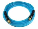 "Coilhose Pneumatics PFE60254T  Flexeel Hose, 3/8"" x 25', 1/4"" MPT Reusable Strain Relief Fittings, Transparent Blue"