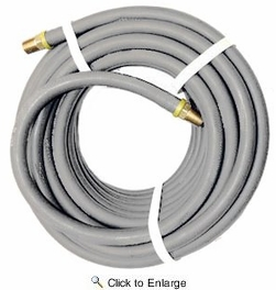 "Contractor's Choice GRAY-14X025  Gray 1/4"" x 25' Air Hose with 1/4"" NPT Push-Lock Fittings"