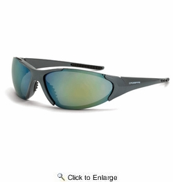 Crossfire 181212  Core Safety Glasses Gold Mirror Lens - Emerald Pearl Frame