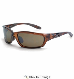 Crossfire 2117  Infinity Safety Glasses HD Brown Flash Mirror Lens - Crystal Brown Frame