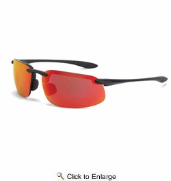Crossfire 2169  ES4 Safety Glasses HD Red Mirror Lens - Matte Black Frame