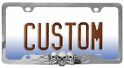 Custom Accessories 92812  Skull and Flames License Plate Frame