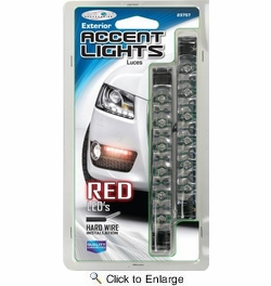 Custom Accessories Red Led Grill Exterior Accent Lights (23757)