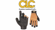 Custom Leathercraft 124 Workright Hi-Dexterity Gloves Elastic Cuff with Strap