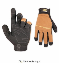 Custom Leathercraft 124L  Workright Hi-Dexterity Gloves Elastic Cuff with Strap - Large