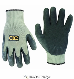 Custom Leathercraft 2034M Thermal Lined Latex Gripper Gloves, Medium