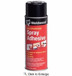 Dap 00118  Weldwood Multipurpose Clear Spray Adhesive 16-oz Aerosol