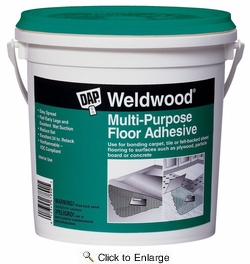Dap 00141  Weldwood Multi-Purpose Floor Adhesive - Off-White Quart