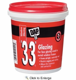 Dap 12120  '33' Window Glazing (RTU) - White 8-oz
