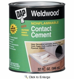 Dap 25332  Weldwood Nonflammable Contact Cement - Natural Quart