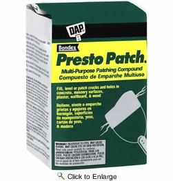 Dap 58505  Presto Patch Multi-Purpose Patching Compound (Dry Mix) - White 4-lb