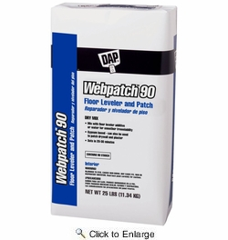 Dap 63050  WEBPATCH 90 General Purpose Patch and Floor Leveler (Dry Mix) - Off-White 25-Lb Bag
