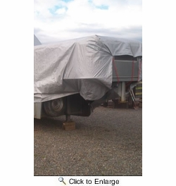 Dry Top 10X12SLVR  Heavy Duty 10 Mil Silver/Brown Reversible Tarp 10' x 12'  (210125)
