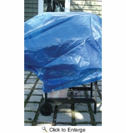 Dry Top 16X20  All Purpose Industrial Polyethylene Blue Tarp 16' x 20' 5 Mil (016208)