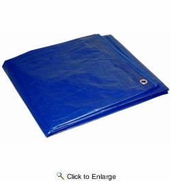Dry Top 18X24  All Purpose Industrial Polyethylene Blue Tarp 18' x 24' 5 Mil (018240)