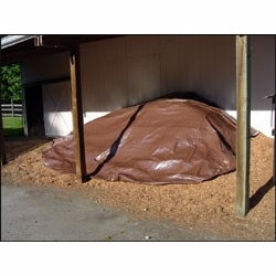Dry Top 18X24BR  All Purpose Heavy Duty Brown/Green Reversible Tarp 18' x 24' 5 Mil (118247)