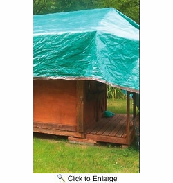 Dry Top 6X8BR  All Purpose Brown/Green Reversible Tarp 6' x 8' 5 Mil (100686)