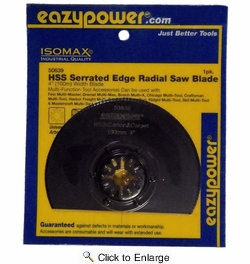 "EazyPower 50639  4"" (100mm) Multi-Tool HSS Serrated Radial Carton/Carpet/Leather/Rubber Saw Blade"