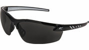 Edge Eyewear  DZ116-G2  Zorge G2 Safety Glasses Black Frame Non-Polarized Smoke Lens