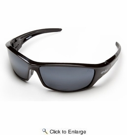 Edge Eyewear SR117  Reclus Safety Glasses Black Frames Silver Mirror Lens