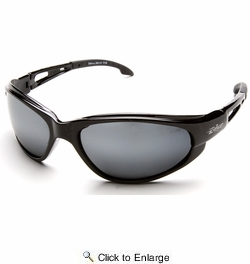 Edge Eyewear SW117  Dakura Safety Glasses Black Frames Silver Mirror Lens