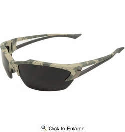 Edge Eyewear TSDK21DCK  Khor Safety Glasses Kit with Digital Camo Frames 3 Lens Sets