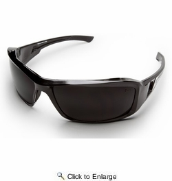 Edge Eyewear XB116  Brazeau Safety Glasses Black Frames Smoke Lens