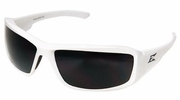 Edge Eyewear XB146  Brazeau Safety Glasses White Frames Smoke Lens