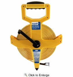 """Empire Level 6830  1/2"""" x 300' Open Reel Fiberglass Measuring Tape - Inch and Engineers Scale"""