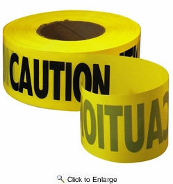 Empire Level 71-1001  1000' x 3'' CAUTION Safety Barricade Tape