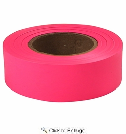 """Empire Level 77-003  200' x 1"""" Roll Flagging Tape Glo-Pink"""