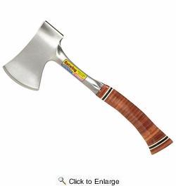 """Estwing E24A  14"""" Sportsman's Axe With Leather Grip And Sheath"""